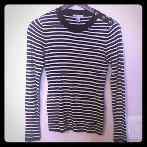 H&M striped sweater with Gold Buttons